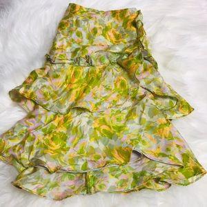 Beautiful ruffle silk mini skirt by Nanette Lepore